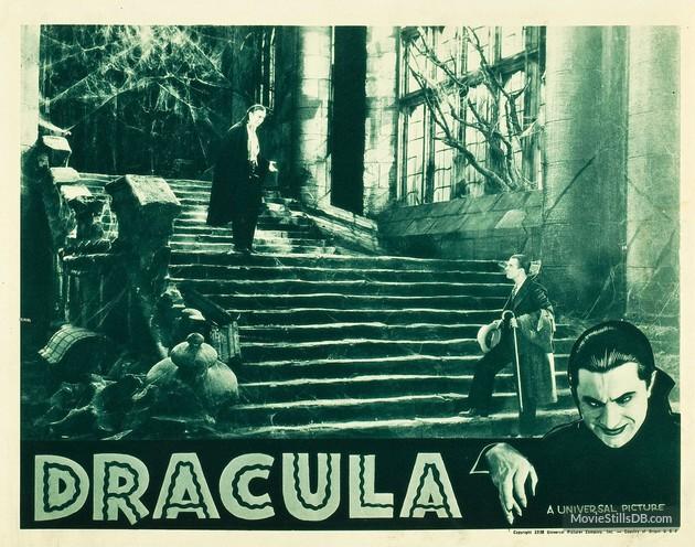 Dracula (1931 Tod Browning) lobby card. Bela Lugosi, Dwight Frye