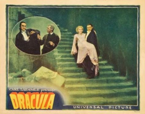 Dracula (1931 Tod Browning) lobby card. Bela Lugosi, Helen Chandler