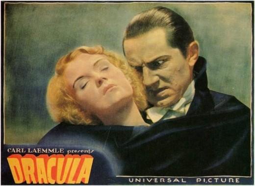 Dracula (1931 Tod Browning) lobby card. Bela Lugosi, Helen Chandler.