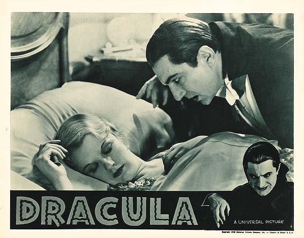 Dracula (1931 Tod Browning) lobby card. Bela Lugosi.