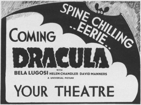 Dracula (1931-Tod Browning) lobby card