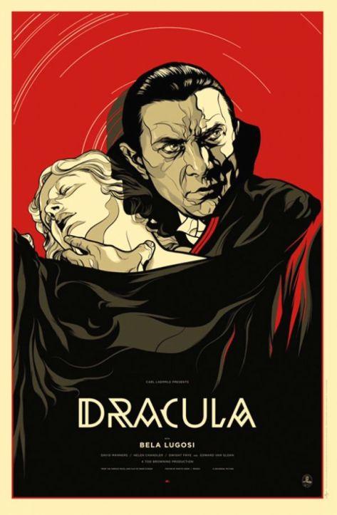 Dracula (1931 Tod Browning) poster Bela Lugosi, Helen Chandler