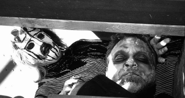 Requiem For the Relentless Fathers. Alfred Eaker as King Saul tormented by God's evil spirit (Jen Ring).  © alfred eaker