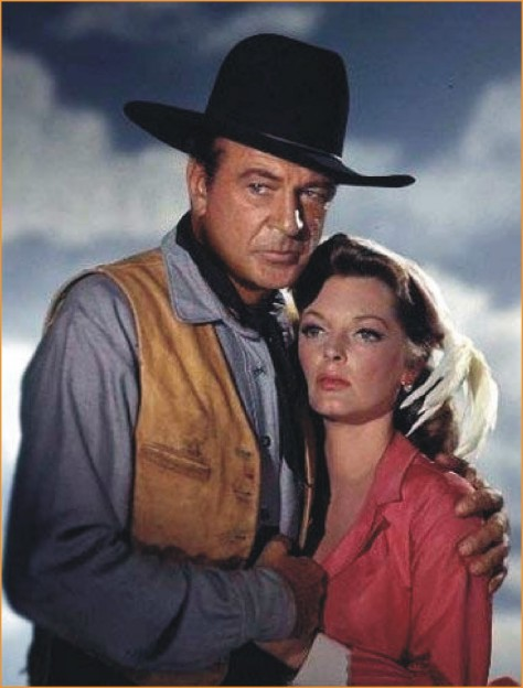 %22Man of the West%22 (Anthony Mann) Gary Cooper, Julie London. publicity still