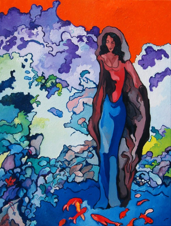 Alfred EAKER 'Our Lady Of The Mermaids%22 oil on canvas © 2011 Alfred Eaker