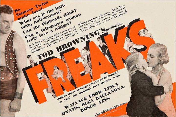 Tod Browning Freaks AMERICAN POSTER