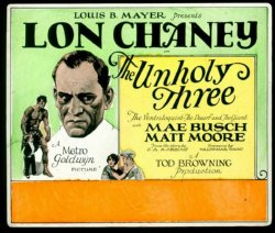 Tod Browning The Unholy Three 1925 poster