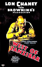 TOD BROWNING WEST OF ZANZIBAR 1928 poster