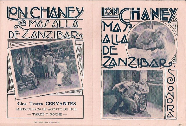 TOD BROWNING WEST OF ZANZIBAR marquee