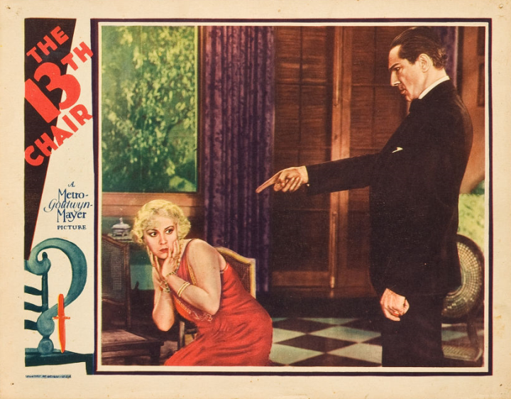 13TH CHAIR (Tod Browning 1930) lobby card. Bela Lugosi