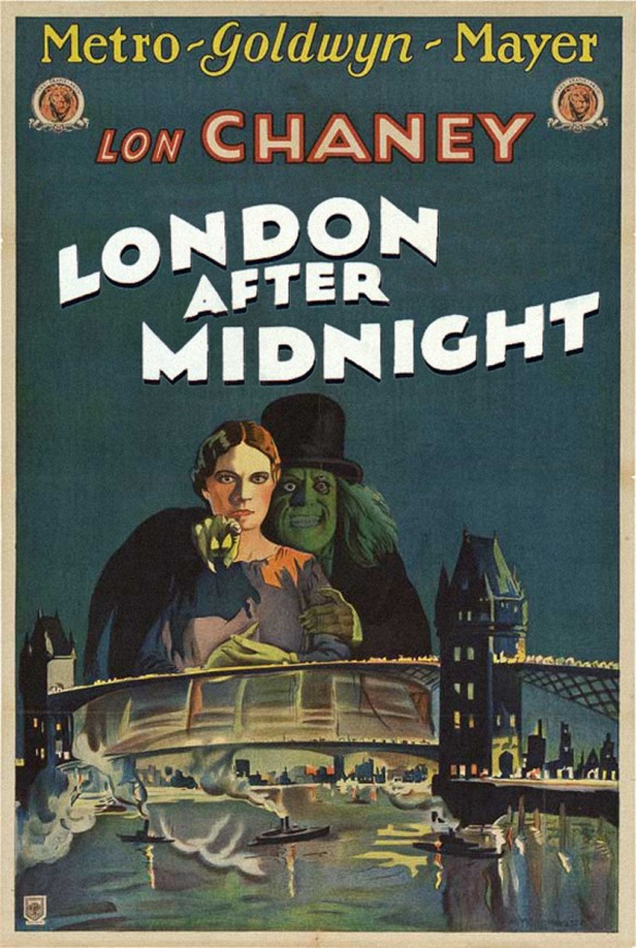 Tod Browning LONDON AFTER MIDNIGHT poster lost film