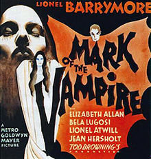 Tod Browning MARK OF THE VAMPIRE POSTER