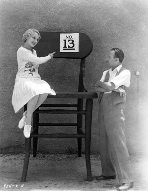Tod Browning publicity still 13th chair