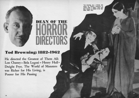 Tod Browning dean of horror
