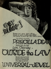 Tod Browning Outside The Law Poster