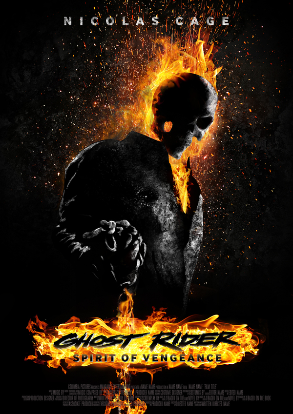 Ghost Rider Spirit of Vengence poster. Nicholas Cage