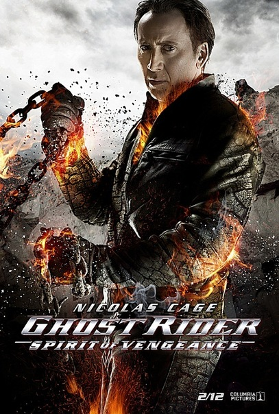 Ghost RIder- Spirit of Vengence poster. Nicholas Cage