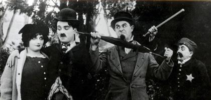 Charlie Chaplin Between Showers