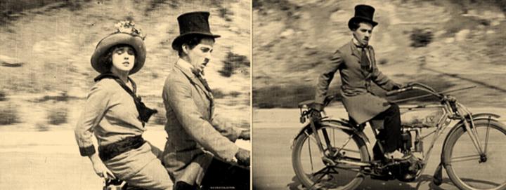 Charlie Chaplin Mabel At The Wheel