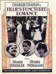 Charlie Chaplin Marie Dressler Mabel Normand TILLIE'S PUNCTURED ROMANCE