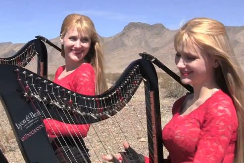 Camille and Kennerly Harp Twins