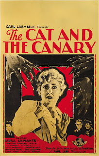 cat and canary poster