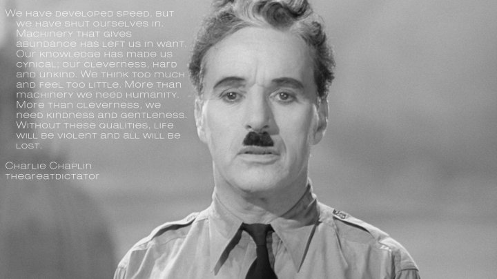 Chaplin Great Dictator Speech