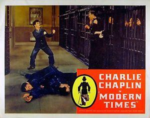 Charlie Chaplin Modern Times (1936) lobby card