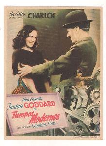 Charlie Chaplin Modern Times ad