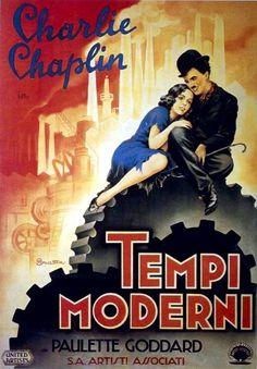 Charlie Chaplin Modern Times Italian poster
