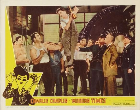 Charlie Chaplin Modern Times (lobby card)
