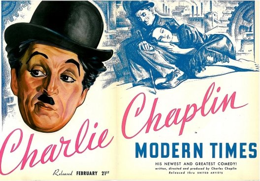 Charlie Chaplin Modern Times lobby card