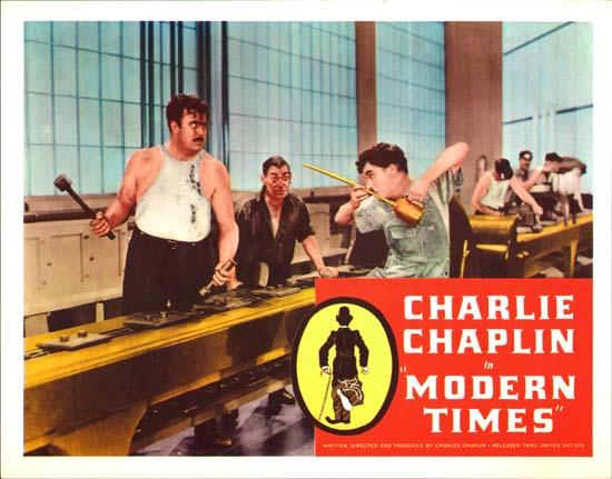Charlie Chaplin Modern Times lobby card.