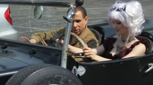 Creeporia. John Semper teaching his star how to drive a stick shift