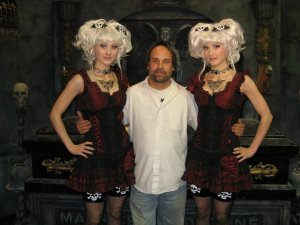 Creeporia. The twins and Patrick Greathouse