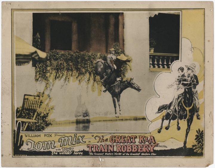 TOM MIX THE GREAT K & A TRIAN ROBBERY LOBBY CARD