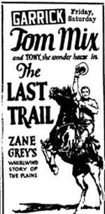 TOM MIX THE LAST TRAIL poster