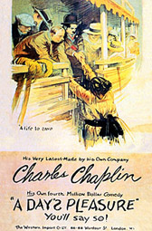 Charlie Chaplin A Day's Pleasure poster 1919