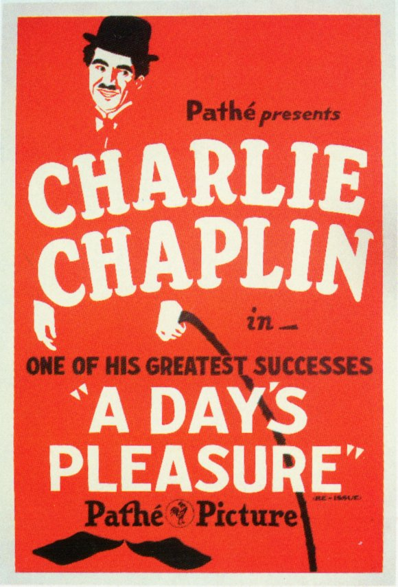 Charlie Chaplin A Day's Pleasure POSTER