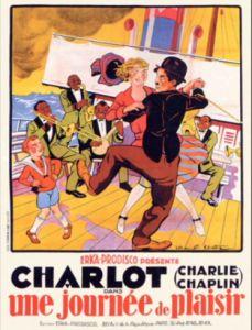 Charlie Chaplin A Day's Pleasure poster.