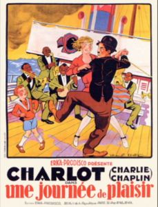Charlie Chaplin A Day's Pleasure poster.