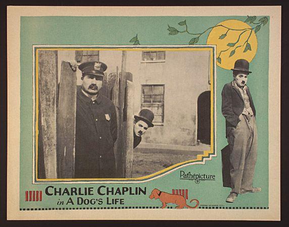 Charlie Chaplin A Dog's Life (lobby card ad)