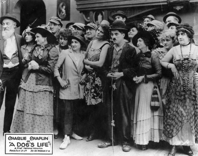 Charlie Chaplin A Dog's Life (lobby card).