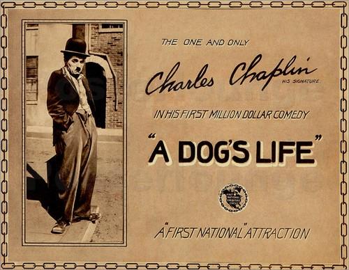 Charlie Chaplin A Dog's Life lobby card.