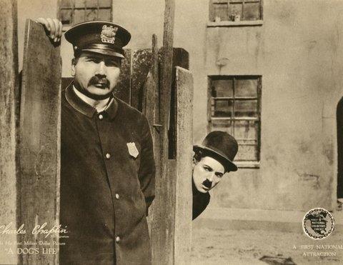 Charlie Chaplin A Dog's Life promotional ad
