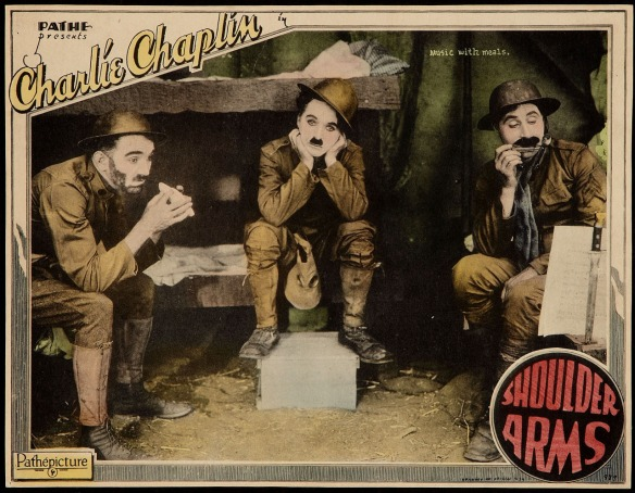 Charlie Chaplin Shoulder Arms (1918) lobby card.
