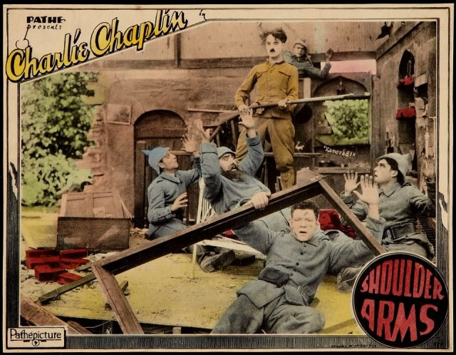 Charlie Chaplin Shoulder Arms Lobby card (1918)