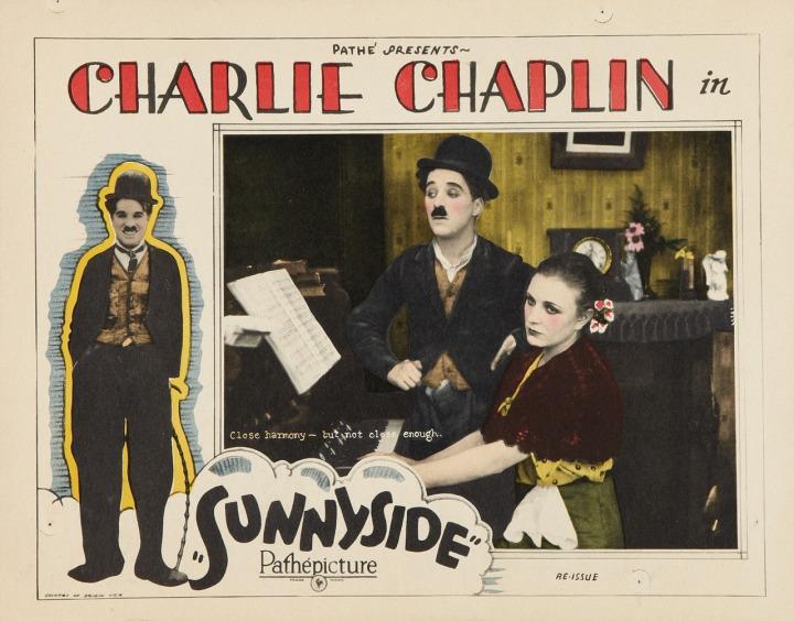Charlie Chaplin Sunnyside (1923) lobby card.