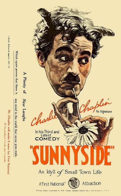 Charlie Chaplin Sunnyside (1923) poster First National