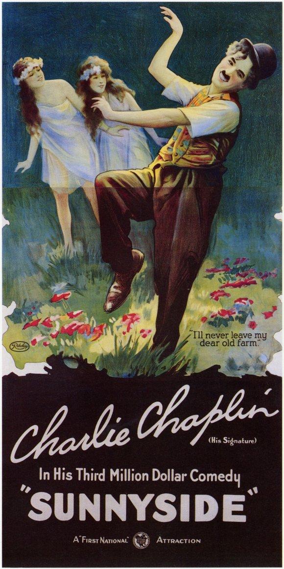 Charlie Chaplin Sunnyside (1923) poster
